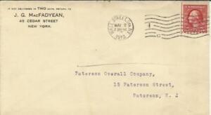 -2 C Etats-unis Laver Bobine-sc#391 (single Frank) Wall Street Sta. Ny May/2/1912 à Construction Robuste