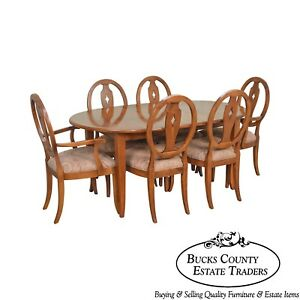 Exceptionnel Image Is Loading Ethan Allen Country Colors Maple Dining Set Table