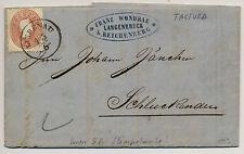 1863 5kr, Brief, FACTURA! (innen 5kr Stempelmarke!) LIEBENAU (B) - SCHLUKENAU.
