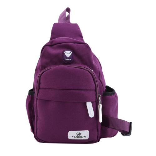 Men Women Crossbody Shoulder Chest Cycle Sling Bag Oxford Travel Backpack LD