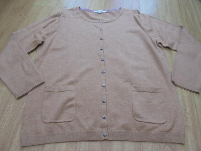 Boden plus s***  great Favourite pocket detail  crew Neck Cardigan Size 22 bnwot