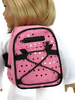 Pink Backpack With Sequins Made For 18 American Girl Doll Clothes Accessories