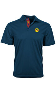 CLUB AMERICA ADULT PREMIUM BLUE POLO SHIRT SMALL-XXL OFFICIALLY LICENSED