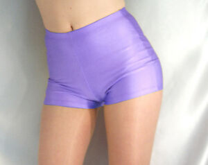 Image Is Loading Retro Style High Waisted Spandex Shorts Hot Pants