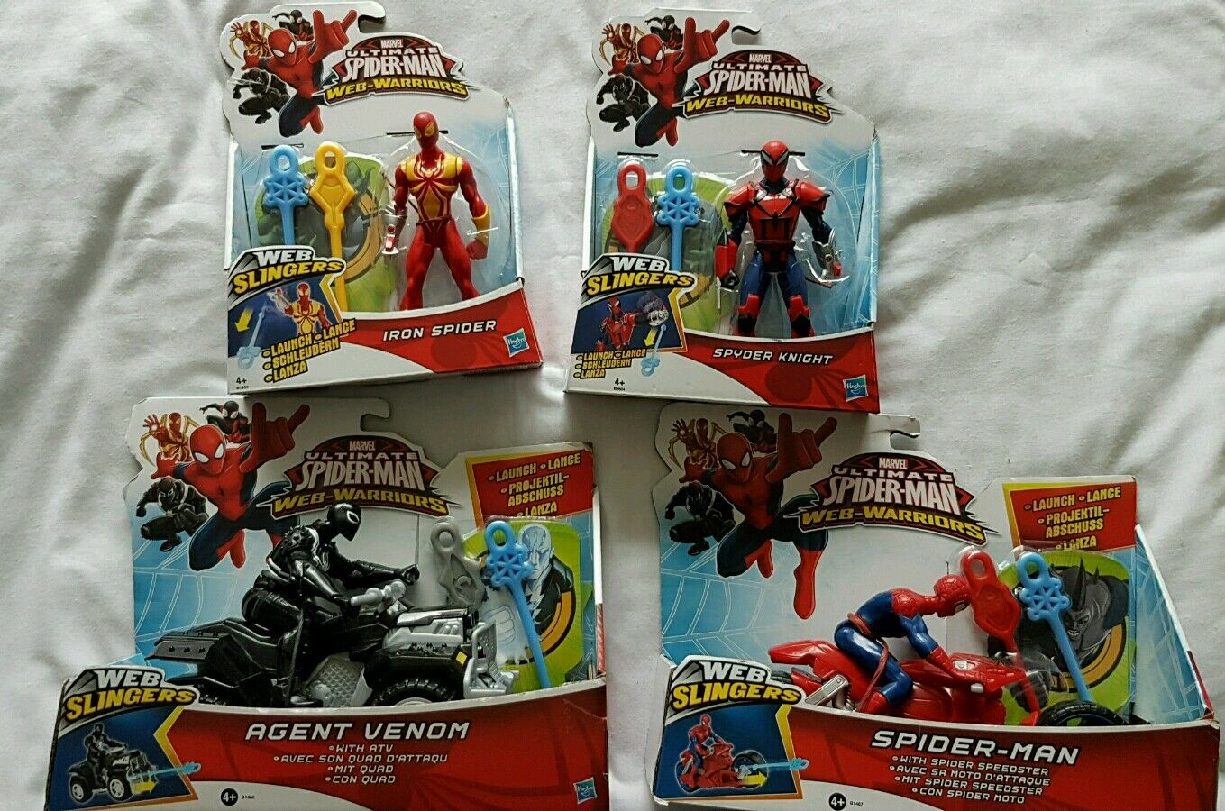 New Spider Man Web Warriors Bundle, Agent Venom, Iron Spider, Spyder Knight