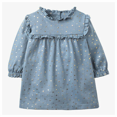Ex Boden Jersey Collared Dress Age 0-24 Months 3-4 Years RRP £20