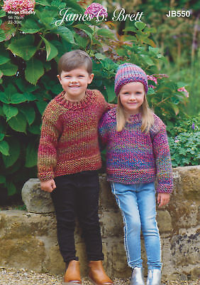 James Brett Womens Super Chunky Knitting Pattern Ladies Jacket Mega Multi JB547