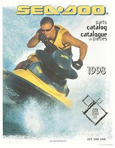 sea doo parts manual book 1998 gtx limited models 5837 5842 ebay rh ebay com 1997 Seadoo GSX Limited 2000 Seadoo XP Limited