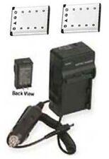 2 Batteries + Charger for Fuji FujiFilm XP30 Z10FD Z20FD Z30 Z30FD Z31 Z33 Z33WP