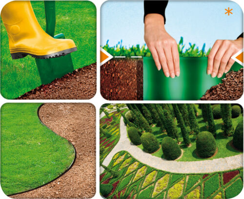 Plastik Garten Gras Rasenkante Rändung Rand Zaun Wand Einfahrt Rolle Weg