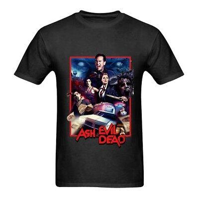 New The Evil Dead American Horror Film Men/'s White Black T-Shirt Size S-3XL