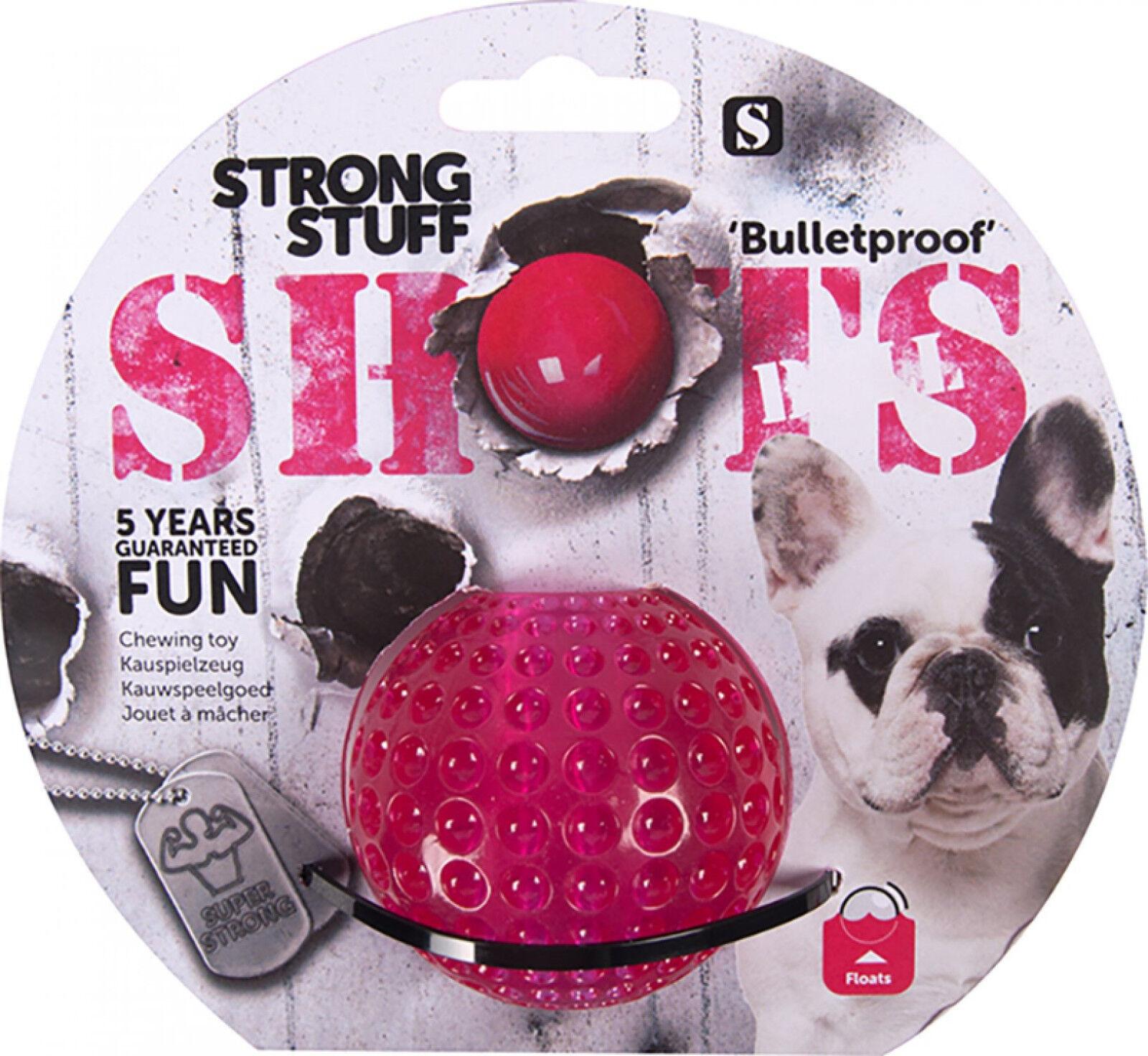Strong Stuff Shots Bulletproof Virtually Indestructible Tough Dog Toys 4 Shapes