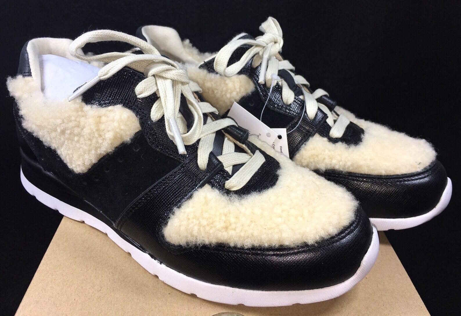 UGG Deaven Lammfell Sneaker Athletic Fashion Schuhe 1014480 Schwarz Tan Shearling