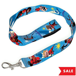 """The Incredibles 2 Lanyard ID Holder Keychain 18.5/"""" NEW"""