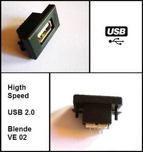 USB Einbaubuchse Einbausteckdose 50cm passend für HiFi A3 A4 C180 E200 BMW E46