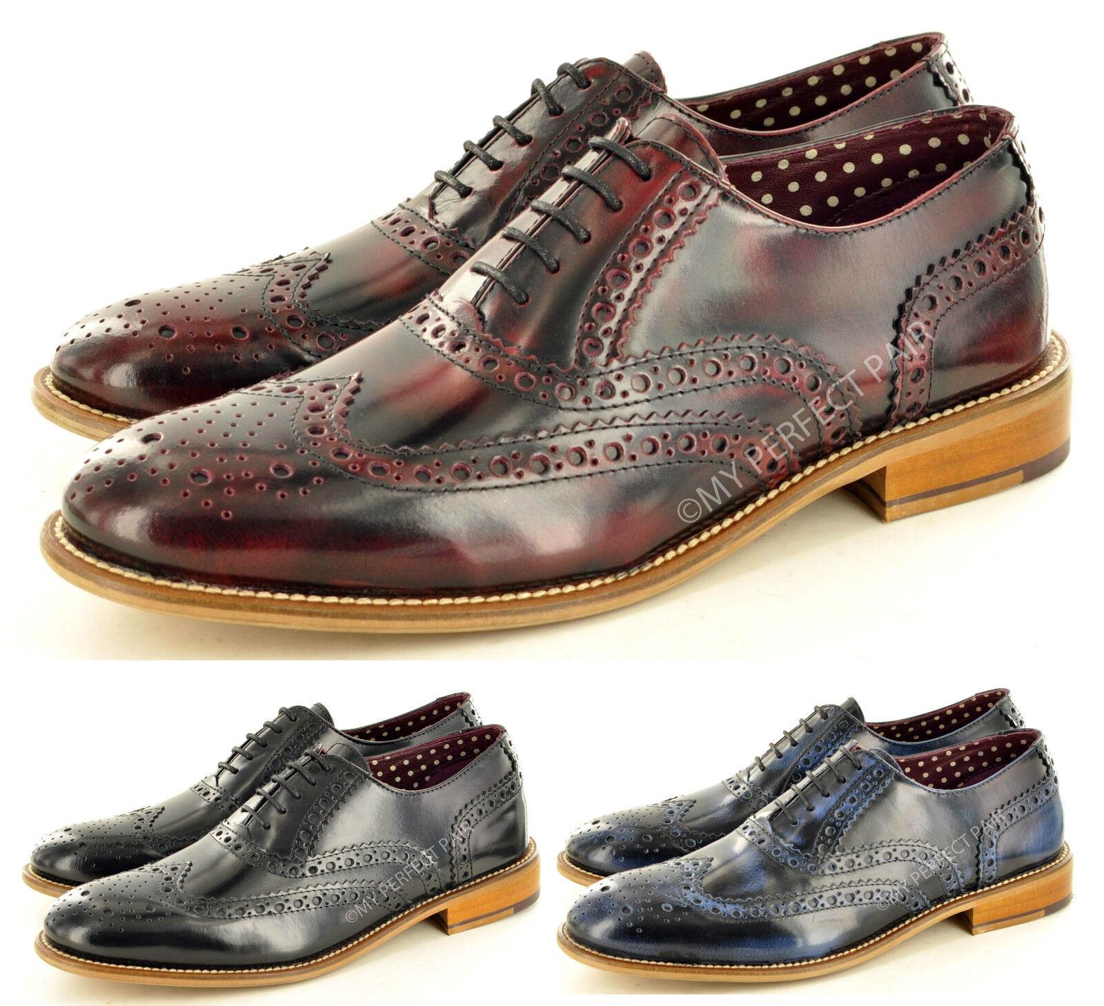 London Cuero Calado Con Para Hombres Cuero Con Calado Cordones Formal Zapatos Gatsby estilo formal de extremo de ala 44441c