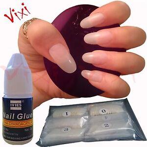 600 Oval Short/medium False Nails Full Cover Fake Natural Opaque Tips Glue