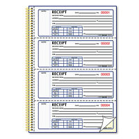 Rediform Money Receipt Book 7 X 2 3/4 Carbonless Duplicate Twin Wire 300 Sets on sale