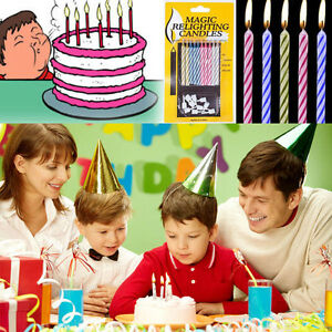 Image Is Loading 10pcs Magic Relighting Candles Birthday Cake Party Joke