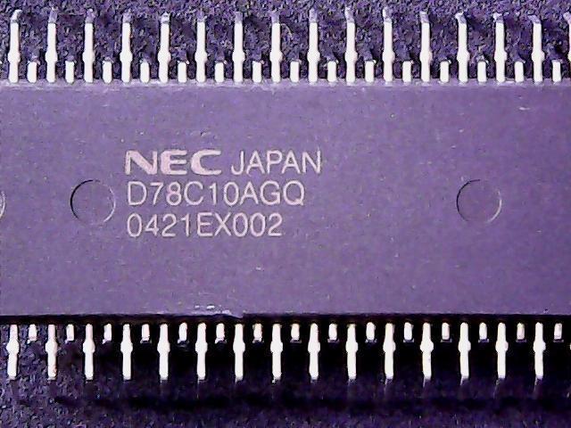 UPD78C10AGQ-36 - NEC Microcontroller, 8-Bit, OTPROM, 15MHz (QUIP-64)