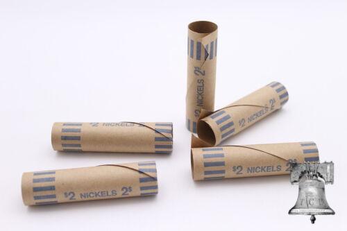100 Nickel Preformed Shotgun Wrappers Coin Storage MMF Bank Tube Rolls Nickels