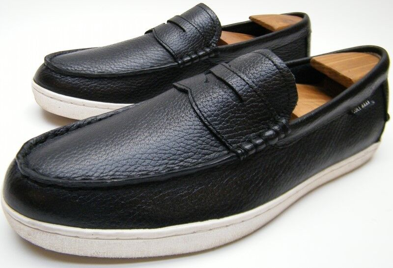COLE HAAN PINCH GRAND OS C13431 WEEKENDER BLK LEATHER PENNY LOAFERS SHOES 8 1/2 Scarpe classiche da uomo