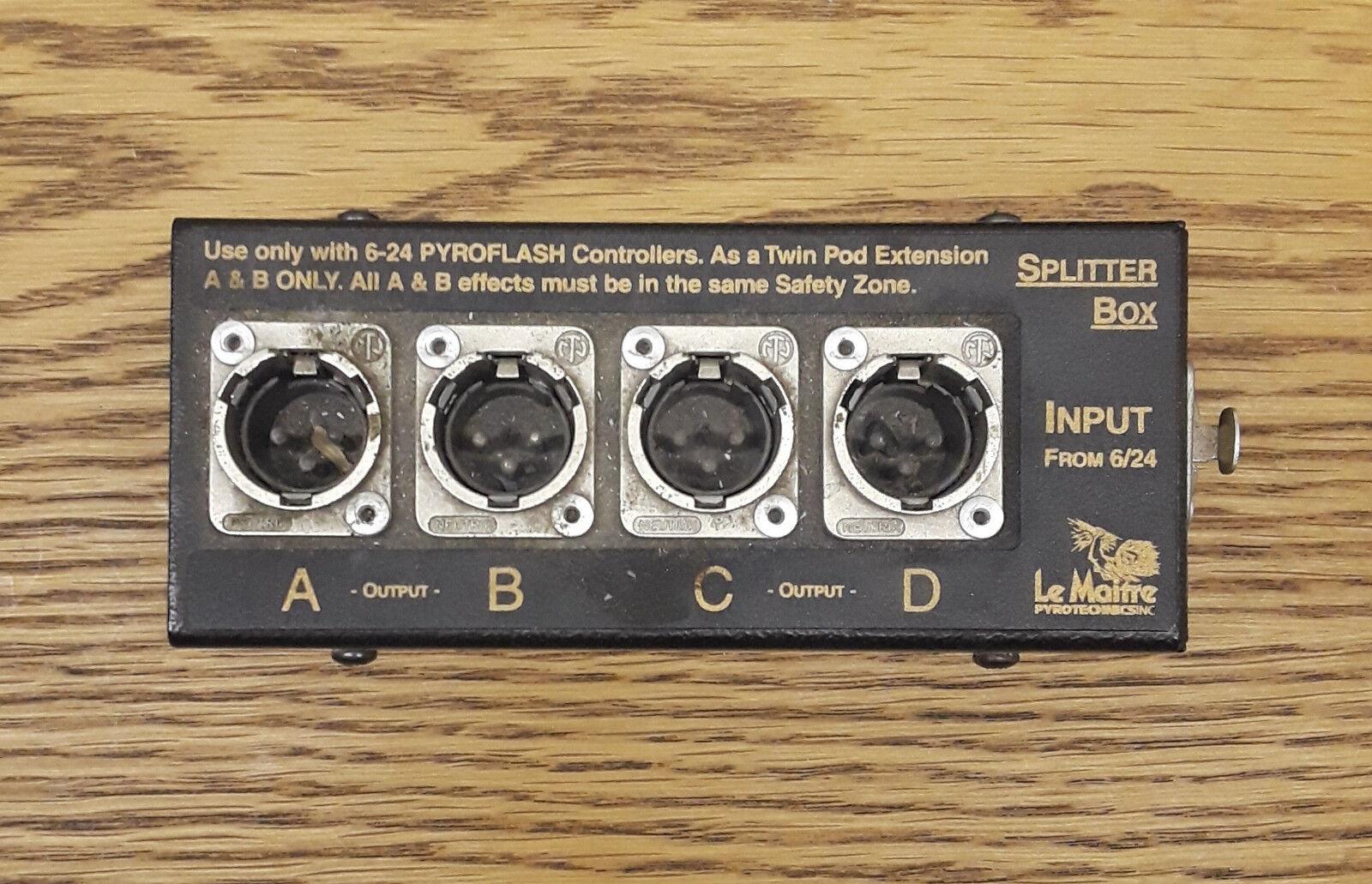 Le Maitre 4-Way Pyro Controller Splitter Box (Marke Neu )