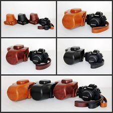 Leather Camera case bag Grip strap for Olympus OM-D OMD EM10 E-M10 14-42mm ONLY