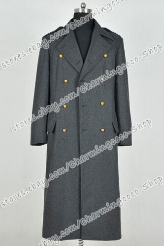 Torchwood Cosplay Dr.Captain Jack Harkness Costume Dark Grey Wool Trench Coat