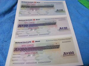 Set-of-3-Specimen-National-Australia-Bank-Travellers-Cheques-20-50-100