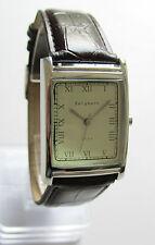 Bergmann 1924 * Rechteckig * Herren Quarz Uhr * Lederband Braun