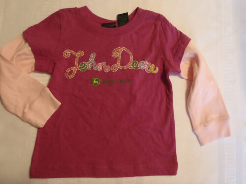 JOHN DEERE Baby Girls 2T 18 or 24 Month Long Sleeve Shirt NWT