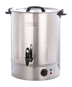 Burco Cygnet Large 30 Litre Catering Hot Water Boiler Tea Urn - Stainless Steel