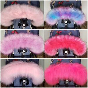 Pram Fur Winter Kit Fur Hood Trim Furs New Baby Hot Pink From PramFurs