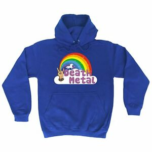 Details about funny hoodies Death Metal Unicorn Rainbow HOODIE punk rock  heavy hoody birthday