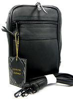 Black Leather Concealment Belt Pack Gun Holster For Taurus Poly Public Defender