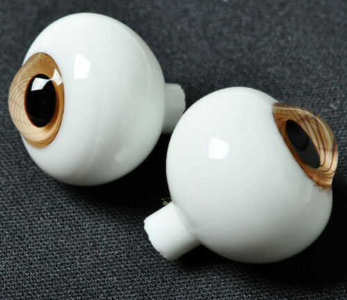 Good Light Brown Iris withStripes 18mm Glass Eyes for Reborn//newborn BJD Dollfie