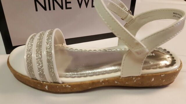 e8994b147 Nine West Kids Girl's *emily 2* Sandals Color White/silver Size 12 M ...