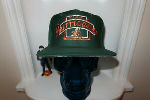NWOT-VINTAGE-MIAMI-HURRICANES-TOP-OF-THE-WORLD-TOP-SNAPBACK-HAT-GREY-UNDERBILL