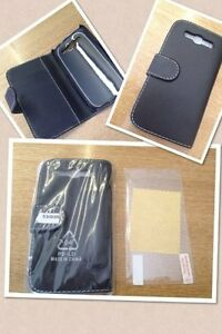 LEATHER-WALLET-FLIP-CASE-COVER-For-SAMSUNG-Galaxy-S3-i9300-and-Screen-protector