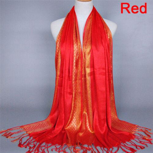 Cotton Tassel Long Hijab Pashmina Shawl Scarf Scarves Stole Wrap Fashion Women .