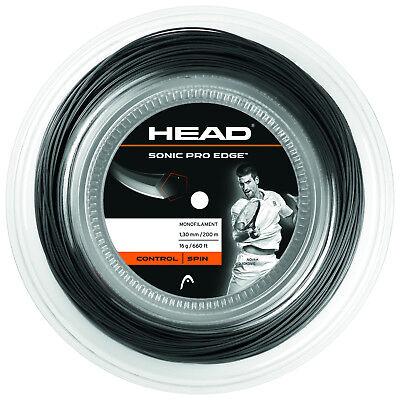 (0,33 €/m) Head Sonic Pro Edge 17 Black 200 M Corde Tennis-