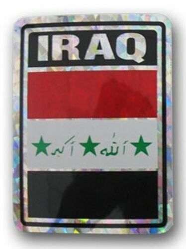 """Wholesale Combo Set Iraq Country 3x5 3'x5' Flag and 3/""""x4/"""" Decal"""