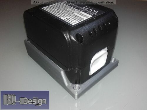 Adapter für Makita Akku 14,4V 18V Akkuhalter Ladeschale BL1415//30 BL1830//40 Grau