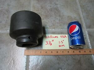 3-1-2-034-Williams-USA-8-6112-Impact-Socket-1-5-034-1-1-2-034-Drive-6-Point-FAST-SHIPPING