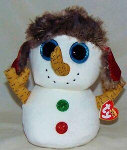 2f03f62f7b7 New! 2018 Holiday Ty Beanie Boos BUTTONS the Snowman Medium Buddy 9 ...