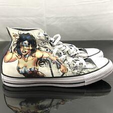 78147791459604 Converse Chuck Taylor All Star Hi Wonder Woman DC Sneaker White Shoes Sz 8.5