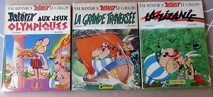 ASTERIX-LE-GAULOIS-TROIS-ALBUMS-EN-TRES-BON-ETAT-OLYMPIQUE-TRAVERSEE-ZIZANIE