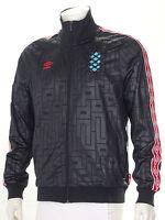 Umbro 'Diamond Icons' Retro Tracksuit Jacket Limited Edition Black/Red S-XL