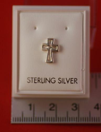 Crucifijo Plata Esterlina 925 Arito Cruz